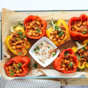 lamb chickpea stuffed peppers 1