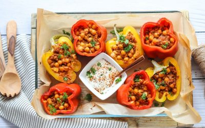 Lamb and Chickpea Stuffed Peppers