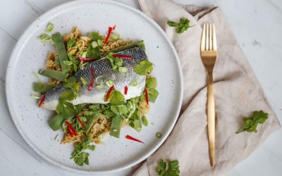 One-Pot Sea Bass and Thai Rice
